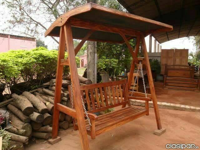 hamaca de madera de jardn edher hendylacom - Hamacas De Madera