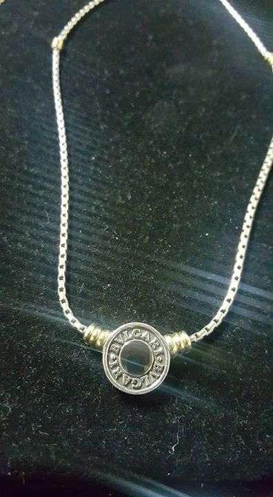 d7e3110f4646 Cadena de plata con oro bulgari - Fiorella Figueredo - ID 124493