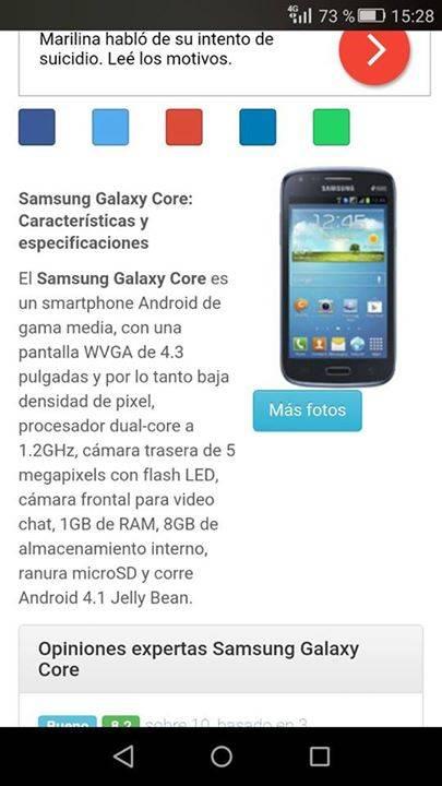 Samsung galaxy core sin detalles libre para todas las operadoras ...
