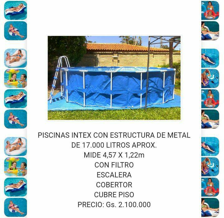 Piscinas intex de litros sergio for Piscinas para perros baratas