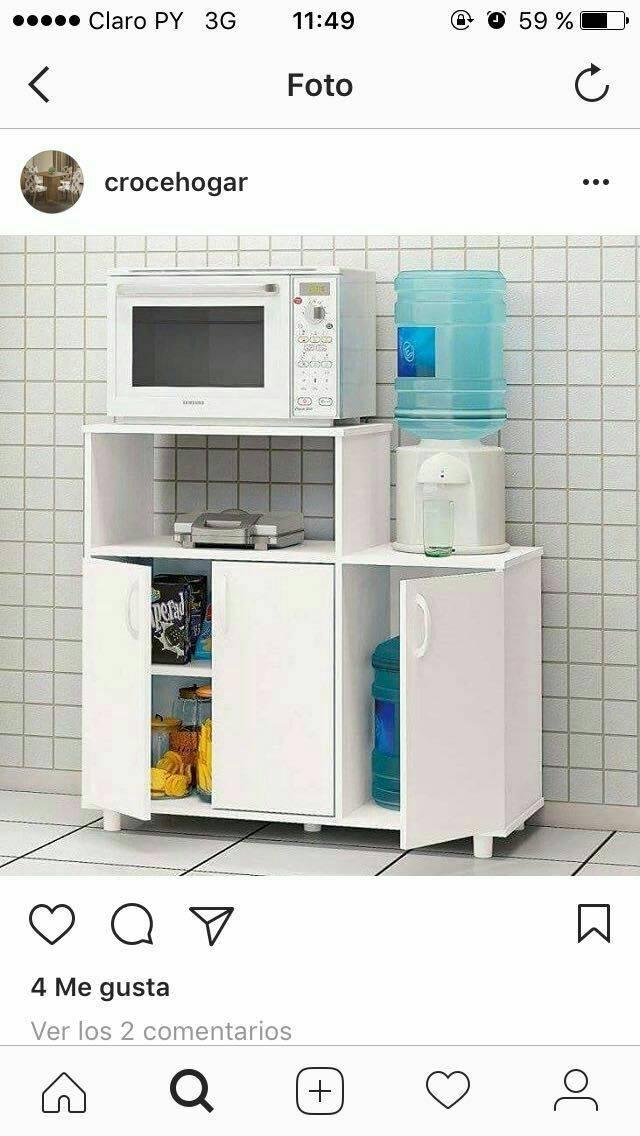 Mueble para horno y microondas ds for Muebles para microondas ikea