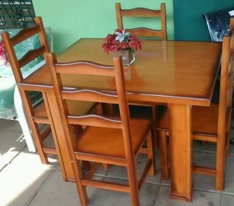 Comedores de madera maciza con o sin tapizado - Muebles - ID 406235