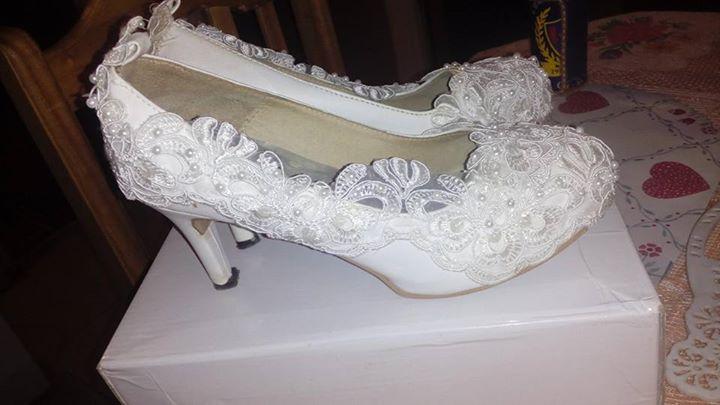 vestido de novia tocado velo miriñaque - mara liliana servin - id 402006