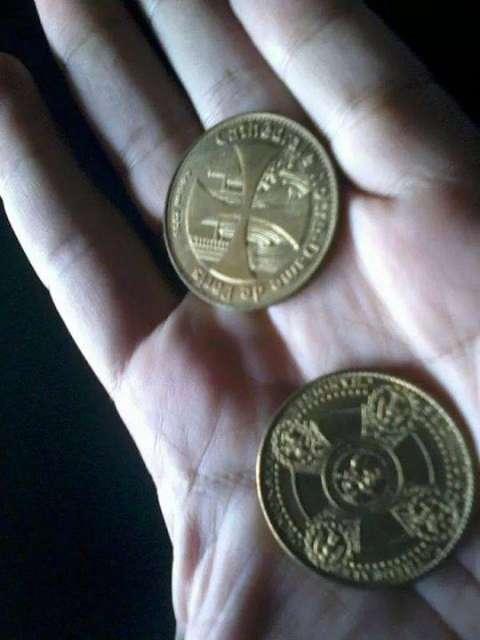 Moneda de colección edición limitada de Francia catedral de Notredame y Mónaco