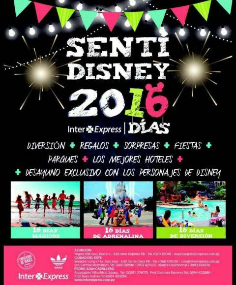 Paquete de viaje para Disney 2016