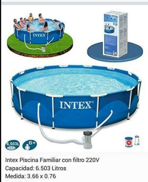 Piscina familiar intex con filtro gerardo pinto id 42656 for Alberca familiar intex