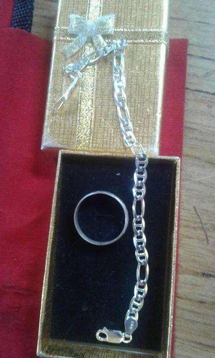 Pulsera y anillo para hombre