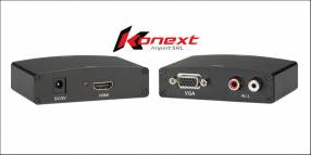 Conversor adaptador HDMI a VGA con audio HD play 4 1080i