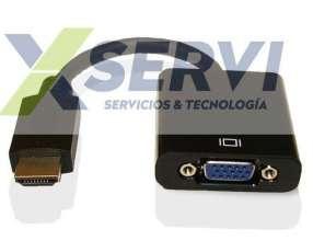 Conversor adaptador HDMI a VGA con Audio HD play 4 1080i