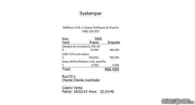 Equipá tu negocio con SYSTEMPAR SISTEMA DE STOCK Y FACTURACION - 5