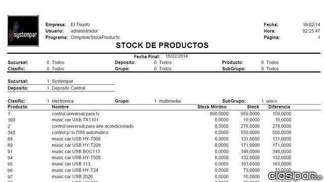 Equipá tu negocio con SYSTEMPAR SISTEMA DE STOCK Y FACTURACION - 4