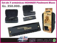 Set de 7 armónicas HOHNER Piedmont Blues con estuche