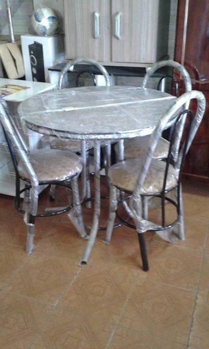 Juego de comedor 4 sillas tapizado eva - Tapizado de sillas de comedor ...