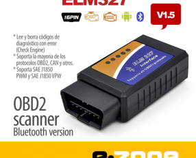 Scanner OBD2 (ELM 327) BLUETOOTH diagnostico automotriz - PC, Android