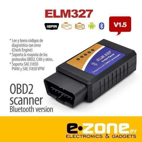 Escáner OBD2 ELM 327 - 0