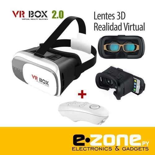 VR Box Lente 3D Realidad Virtual con control bluetooth - 0