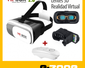 VR Box Lente 3D Realidad Virtual con control bluetooth