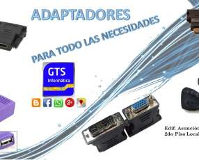 Adaptadores especiales para Notebook y Pc