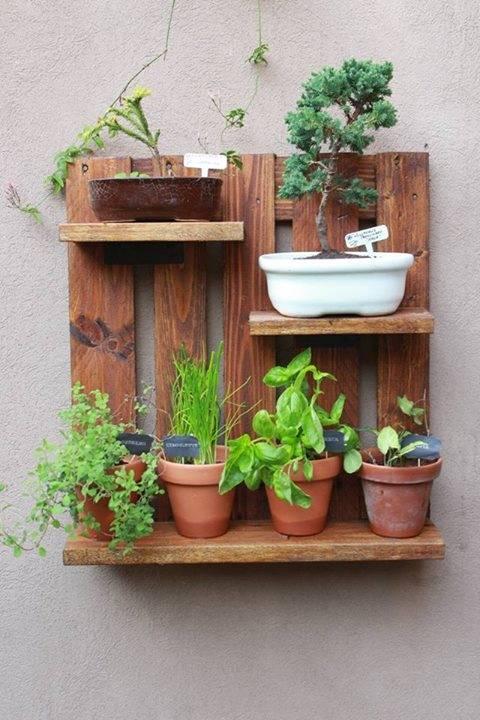 Muebles de palet vivero de floria plantas y palets - Maceteros de palets ...