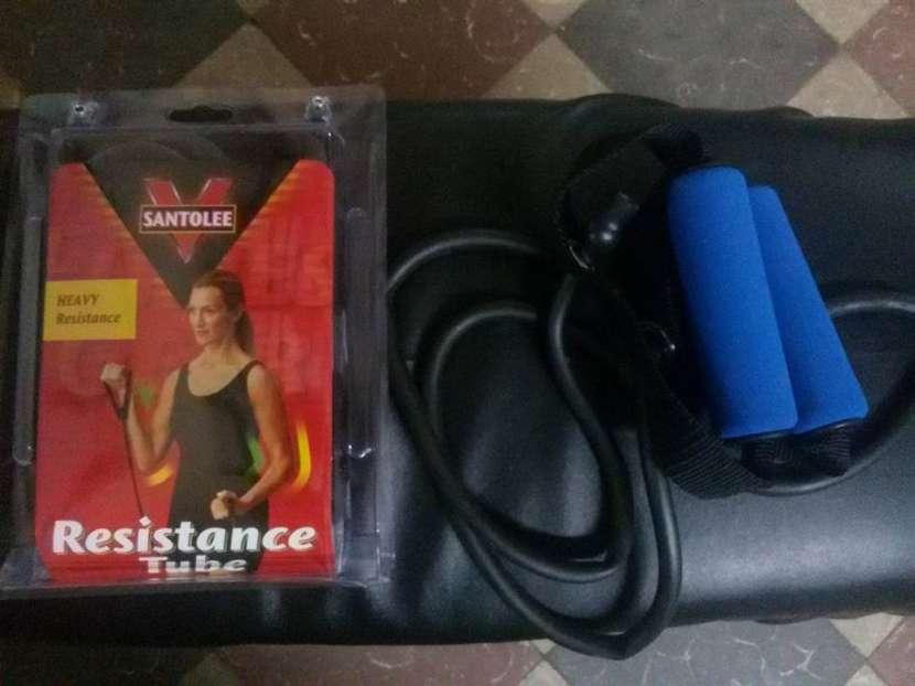 Banda elastica para entrenamiento de CXWorX y Video de Rutina Body System CX - 0