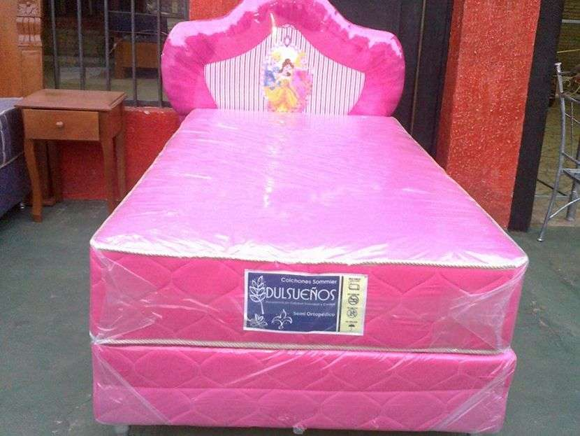 Sommier infantil rosado - 0