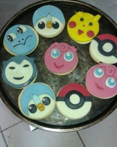Tortas cupcakes cookies paletas de Pokemon