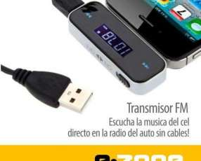 Transmisor FM Música del celular a tu radio sin cables