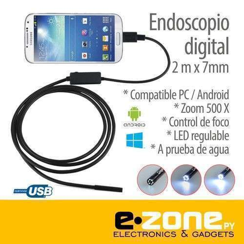 Endoscopio digital mini cámara usb para celular - 0