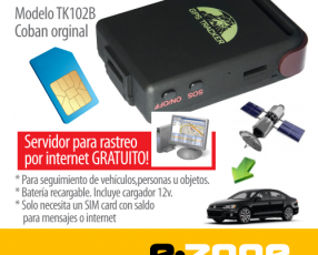 GPS rastreo Coban Tk102b antirrobo SMS o internet