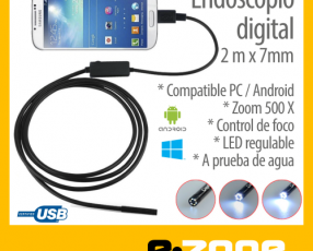 Endoscopio digital. Mini camara USB celular