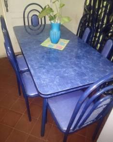 Juego de comedor mesa rectangular con 6 sillas