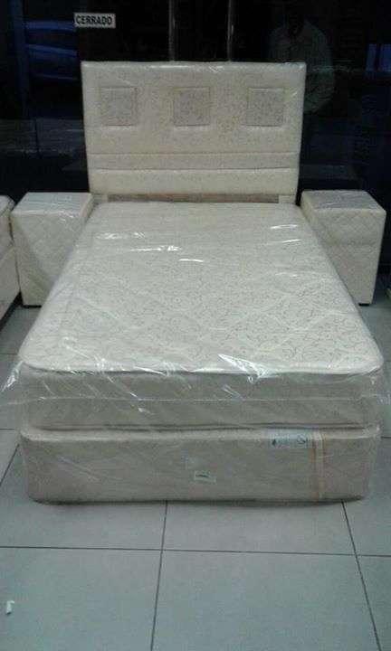Somier Super espuma 120 X 190 base y colchón