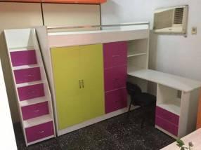 Cama ropero escritorio cómoda