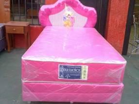Sommier infantil colchón con resorte y doble costura