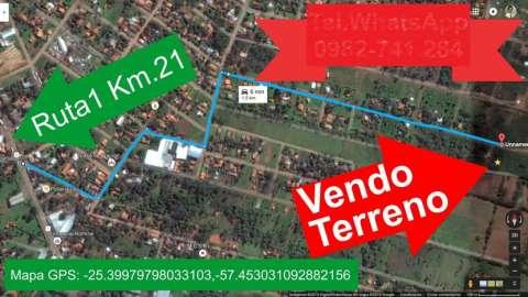 Terreno en Capiata ruta 1 km 21