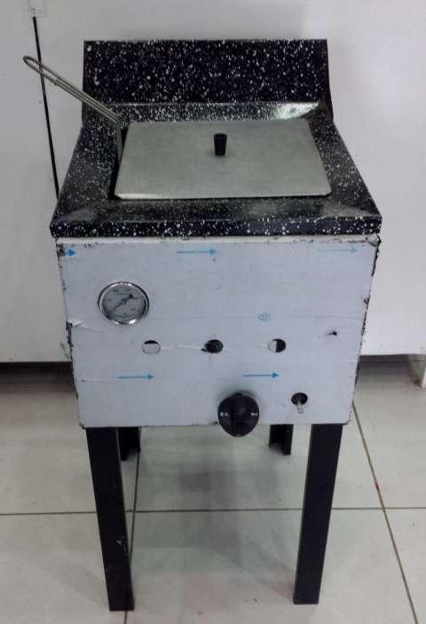 Freidora a gas industrial para aceite y agua 18 litros