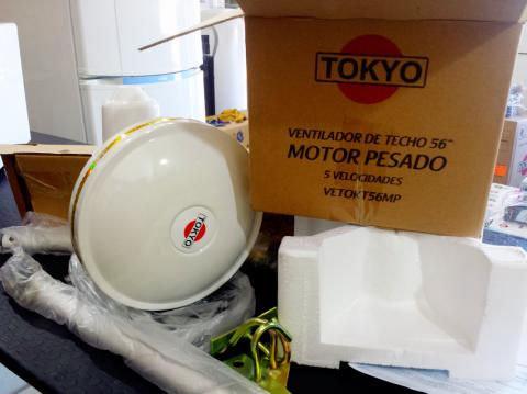 Ventilador de techo Tokyo TOKT56MP motor pesado