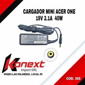Cargador notebook Acer 19V 2.1/2.37/3.42a Pin 1.7mm Oem