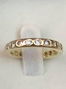 Anillo sinfin de diamantes con certificado de garantia