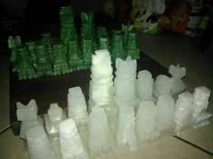 Piezas de ajedrez hecha en piedras