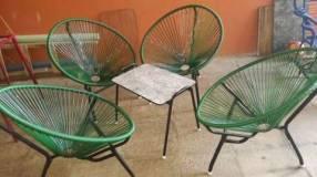 Juego de sillones parabólica