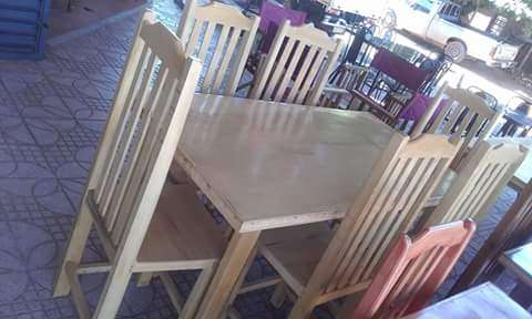 Juego de comedor de seis sillas