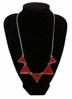 Collar Triangular Rojo
