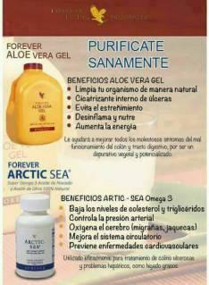 Aloe Vera Gel y Artic Sea Purificate Sanamente