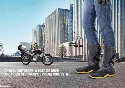 Bota motociclista motosafe - 1