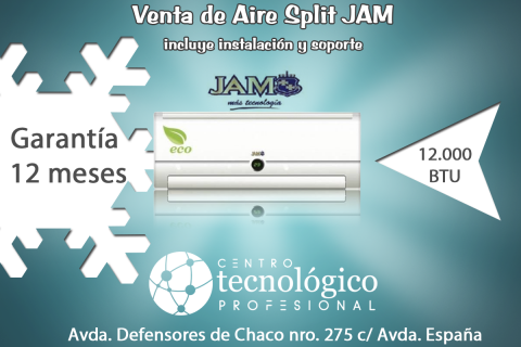 Aire acondicionado Split JAM 12.000 btu