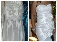 Vestido blanco elastizado - 1