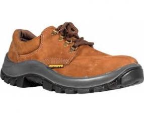 Zapato Worksafe Punta Plast Nobuck Marrón