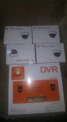 DVR y 4 cámaras con fuente para circuito cerrado