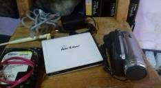 Router Airlive y disco duro 160 gb